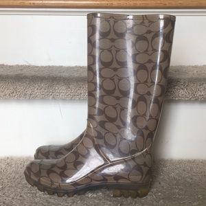 Coach rain boots size 7